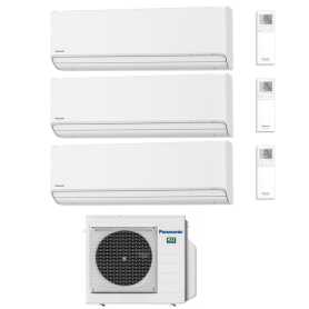 CLIMATIZZATORE PANASONIC TRIAL R32 ETHEREA Z WI-FI 9+9+15 BTU CU-3Z52TBE A+++/A+ 2021